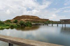 Στο πάρκο δοχείων μεταφοράς άνθρακα haSharon, περιοχή της Sharon στοκ εικόνες