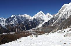 Στο πέρασμα, τοπ άποψη, γύρω από Manaslu, Νεπάλ Στοκ Φωτογραφία
