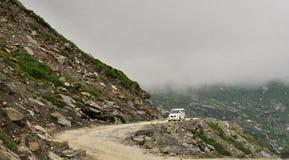 Στο πέρασμα Manali Himachal Rohtang διαδρομών Στοκ Φωτογραφία