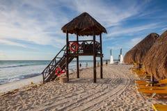 Στο παιχνίδι Paraiso στην καραϊβική θάλασσα του Μεξικού Στοκ φωτογραφία με δικαίωμα ελεύθερης χρήσης