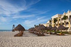 Στο παιχνίδι Paraiso στην καραϊβική θάλασσα του Μεξικού Στοκ Φωτογραφία