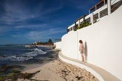 Στο παιχνίδι Paraiso στην καραϊβική θάλασσα του Μεξικού Στοκ Εικόνες