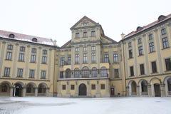 Στο προαύλιο του κάστρου Nesvizh Στοκ φωτογραφία με δικαίωμα ελεύθερης χρήσης