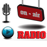 Στο ραδιόφωνο αέρα Στοκ εικόνες με δικαίωμα ελεύθερης χρήσης