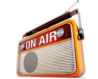 Στο ραδιόφωνο αέρα Στοκ φωτογραφία με δικαίωμα ελεύθερης χρήσης
