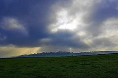 Στο ρείκι, το Νοέμβριο, κοντά σε Ashford, οι αιχμές, Derbyshire στοκ εικόνα με δικαίωμα ελεύθερης χρήσης