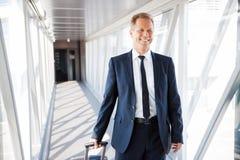 Στο δρόμο του στο αεροπλάνο Στοκ Φωτογραφίες