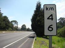 Στο δρόμο χλμ 46 Στοκ Εικόνα