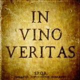 Στο σημάδι veritas vino Στοκ φωτογραφία με δικαίωμα ελεύθερης χρήσης