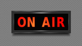 Στο σημάδι αέρα Στούντιο καταγραφής στο ελαφρύ κιβώτιο αέρα απεικόνιση διάνυσμα Στοκ εικόνες με δικαίωμα ελεύθερης χρήσης