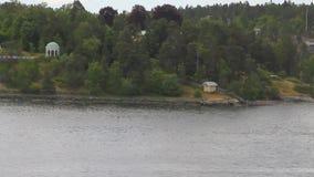 Στο Σκανδιναβικό φιορδ Στοκχόλμη, Σουηδία απόθεμα βίντεο