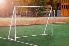 Στο στάδιο αφηρημένο ποδόσφαιρο ποδοσφαίρου ανασκοπήσεων Στοκ φωτογραφίες με δικαίωμα ελεύθερης χρήσης