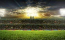 Στο στάδιο αφηρημένο ποδόσφαιρο ποδοσφαίρου ανασκοπήσεων Στοκ φωτογραφία με δικαίωμα ελεύθερης χρήσης