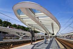 Στο σταθμό Guillemins στη Λιέγη, Βέλγιο Στοκ φωτογραφία με δικαίωμα ελεύθερης χρήσης