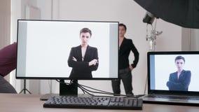 Στο σύνολο επαγγελματικού photoshoot απόθεμα βίντεο