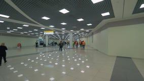 Στο τελικό Ε του αερολιμένα Sheremetyevo, Μόσχα απόθεμα βίντεο
