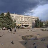 Στο τετράγωνο καθεδρικών ναών σε Sloviansk τέλη Μαρτίου του 2019 στοκ εικόνα με δικαίωμα ελεύθερης χρήσης