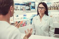 Στο φαρμακείο στοκ φωτογραφίες με δικαίωμα ελεύθερης χρήσης