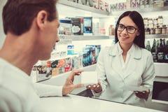 Στο φαρμακείο στοκ φωτογραφία