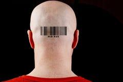 Στο φαλακρό ηληκιωμένο γραμμωτών κωδίκων ατόμων Στοκ Εικόνες