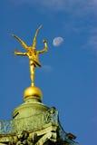 Στο φεγγάρι Στοκ εικόνα με δικαίωμα ελεύθερης χρήσης