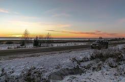 Στο χειμερινό δρόμο Στοκ Φωτογραφίες