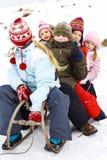 Στο χιόνι Στοκ εικόνες με δικαίωμα ελεύθερης χρήσης