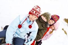 Στο χιόνι Στοκ Εικόνα