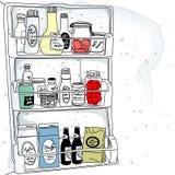 Στο ψυγείο Στοκ Εικόνες