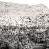 στο cco Αφρική moro φαραγγιών todra και το χωριό Στοκ φωτογραφία με δικαίωμα ελεύθερης χρήσης