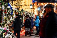 Στο memoriam του θανάτου του βασιλιά Mihai της Ρουμανίας Στοκ Εικόνες