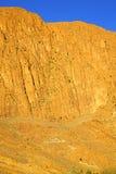 στο todra Αφρική Μαρόκο ο άτλαντας ξηρός Στοκ φωτογραφία με δικαίωμα ελεύθερης χρήσης