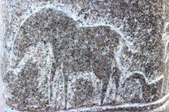 Στρέθιμο της προσοχής σε έναν βράχο Στοκ εικόνες με δικαίωμα ελεύθερης χρήσης