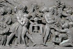 ΣΤΡΑΣΒΟΥΡΓΟ, FRANCE/EUROPE - 17 ΙΟΥΛΊΟΥ: Η πέτρινη απεικόνιση ανακούφισης Στοκ Εικόνες