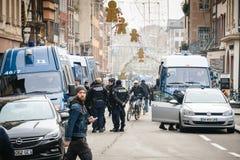 Στρασβούργο Γαλλία μετά από τις τρομοκρατικές επιθέσεις στην αγορά Χριστουγέννων στοκ φωτογραφία με δικαίωμα ελεύθερης χρήσης