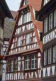 Στρασβούργο, μέρος του συμπαθητικού σπιτιού στη λεπτοκαμωμένη περιοχή της Γαλλίας Στοκ εικόνα με δικαίωμα ελεύθερης χρήσης