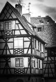 Στρασβούργο, μέρος του συμπαθητικού σπιτιού στη λεπτοκαμωμένη περιοχή της Γαλλίας Στοκ Εικόνα