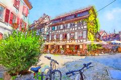 Στρασβούργο, περιοχή της λεπτοκαμωμένος-Γαλλίας Στοκ Εικόνα
