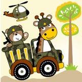 Στρατεύματα ζώων ελεύθερη απεικόνιση δικαιώματος