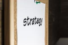 Στρατηγική λέξης στοκ φωτογραφία με δικαίωμα ελεύθερης χρήσης