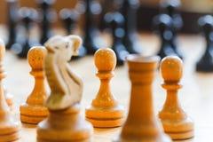 Στρατηγική θέσης μάχης παιχνιδιού επιτραπέζιων παιχνιδιών σκακιού Στοκ Εικόνες