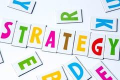 Στρατηγική λέξης φιαγμένη από ζωηρόχρωμες επιστολές Στοκ Εικόνες