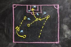 Στρατηγική παιχνιδιών ποδοσφαίρου Στοκ εικόνες με δικαίωμα ελεύθερης χρήσης