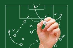 Στρατηγική παιχνιδιών διευθυντών ποδοσφαίρου Στοκ εικόνα με δικαίωμα ελεύθερης χρήσης
