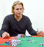 στρατηγική πόκερ στοκ φωτογραφία με δικαίωμα ελεύθερης χρήσης
