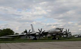 Στρατηγικό αεροπλάνο βομβαρδιστικών αεροπλάνων της ΕΣΣΔ στο μουσείο αεροσκαφών Στοκ φωτογραφία με δικαίωμα ελεύθερης χρήσης