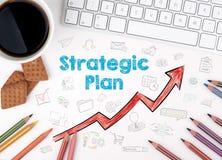 Στρατηγικό σχέδιο, επιχειρησιακή έννοια λευκό Ιστού γραφείων γραφείων επιχειρηματιών περιοδείας Στοκ Φωτογραφία
