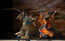 """Στρατηγοί γυναικών του Πεκίνου Opera"""" μετρητών μαχαιριών έλξης Yang Family† Στοκ φωτογραφία με δικαίωμα ελεύθερης χρήσης"""