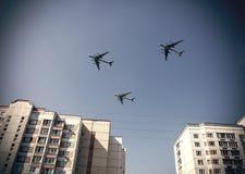 στρατιωτικά αεροπλάνα Στοκ Εικόνα