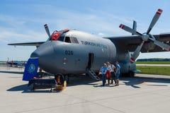 Στρατιωτικά αεροσκάφη Transall γ-160, τουρκική Πολεμική Αεροπορία μεταφορών Στοκ Φωτογραφία